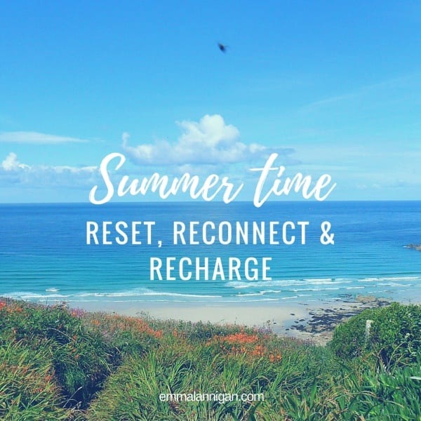 Switch the doing mindset for a being mindset with a summer reset