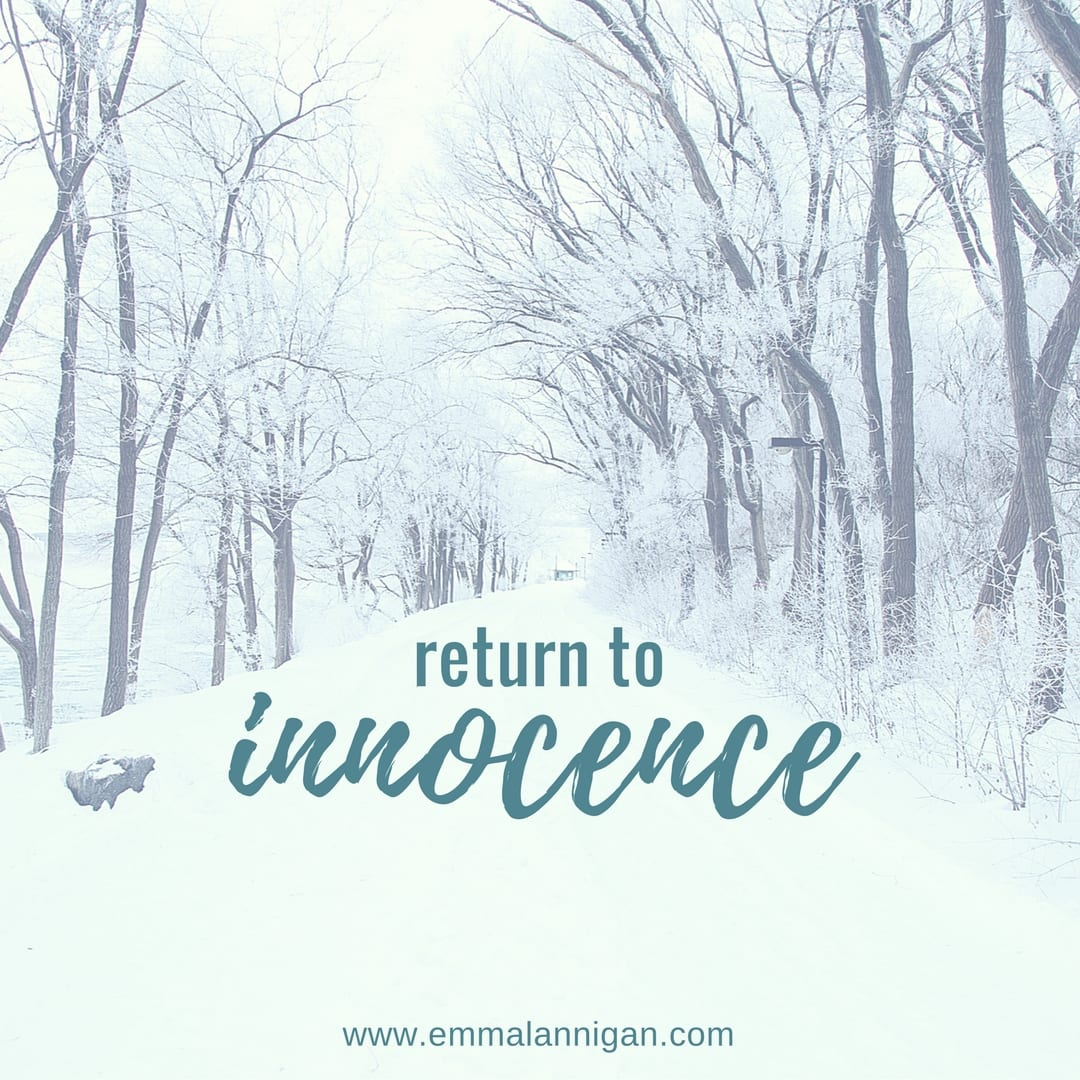 Return to innocence monthly guidance January 2018 by Emma Lannigan